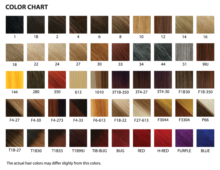Color Chart Jazzwavehair Collection
